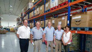 Visita de los presidentes de Bancos de alimentos de Bayona, Bearn y Soule.