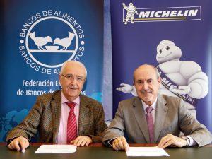 Michelin equipa los vehículos del Banco de Alimentos