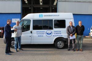 DANOBAT dona una furgoneta para el almacén de Bergara del Banco de Alimentos