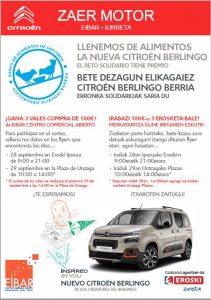 Colaboración con Citroën ZAER Motor Eibar