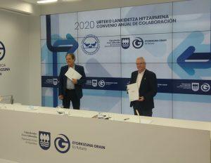 Firma del Convenio de colaboración con el Departamento de Medio Ambiente de la Diputación Foral de Gipuzkoa